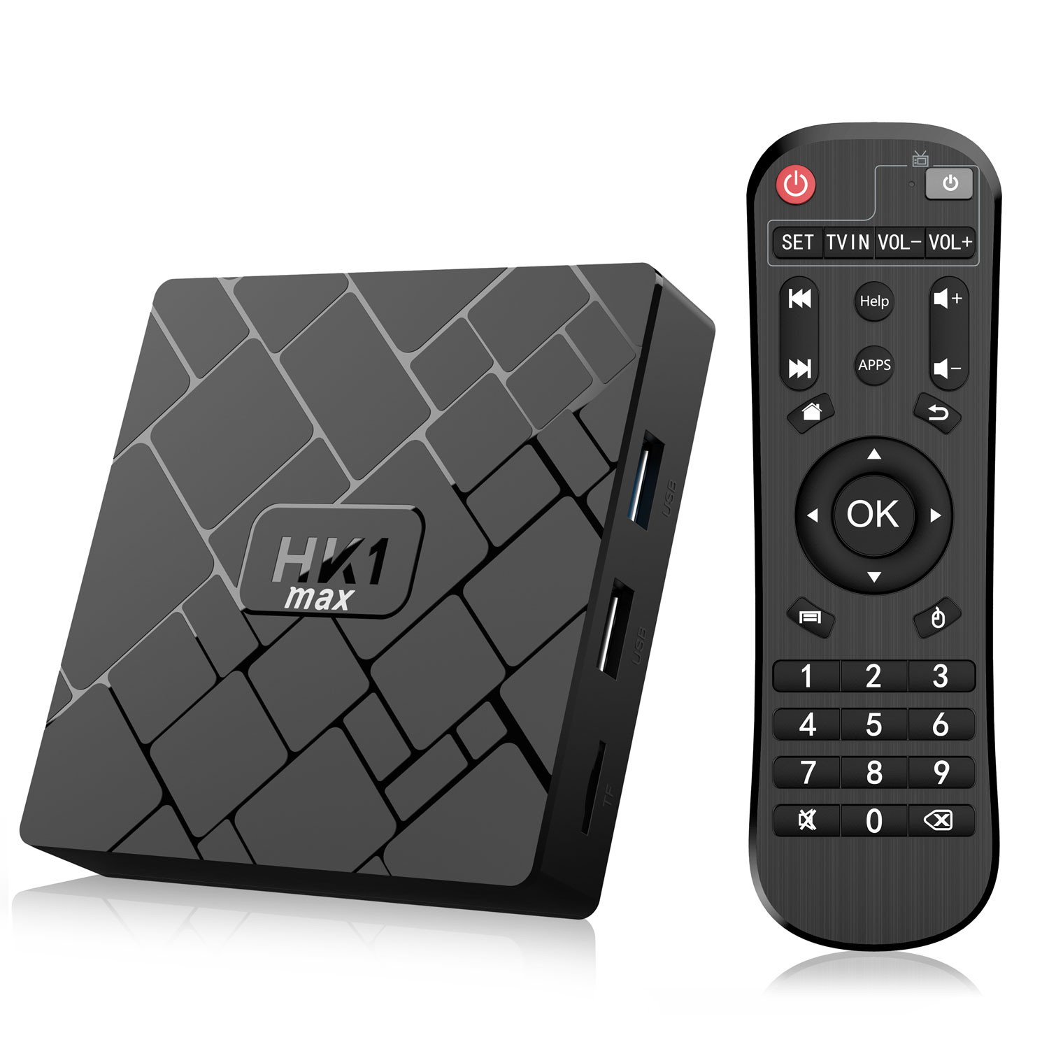 BQEEL HK1 MAX ANDROID 9.0 TV BOX 4GB RAM & 64GB ROM, DOUBLE WIFI 2.4/5G, BLUETOOTH 4.0