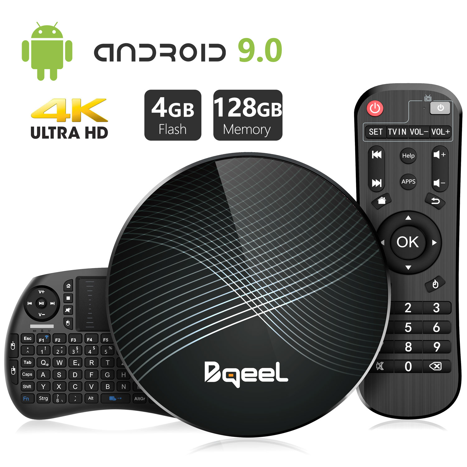 Bqeel U1 MAX android tv box with mini keyboard